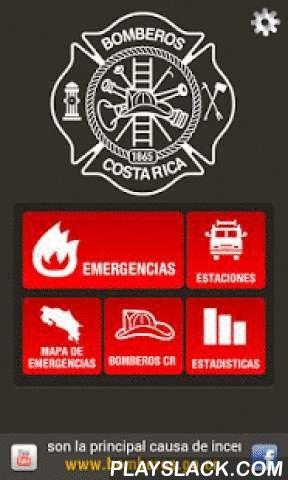 Bomberos CR  Android App - playslack.com ,  Sistema de notificaciones en tiempo real de las emergencias que se atiende el Cuerpo de Bomberos de Costa Rica a nivel nacional. Cuenta con la facilidad de que el usuario personalice los tipos de emergencias de las cuales desea recibir alertas así como la cantidad diaria de notificaciones. Permite el acceso a un directorio geolocalizado de las Estaciones del Cuerpo de Bomberos de Costa Rica en todo el país. Además incluye las siguientes funciones:·…