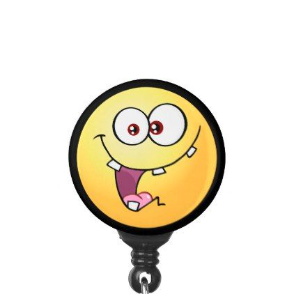 Funny Emoji Name Badge Holder - image gifts your image here cyo personalize