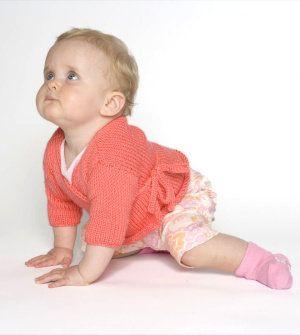 Free Knitting Pattern - Baby Sweaters: Comfy Baby Kimono