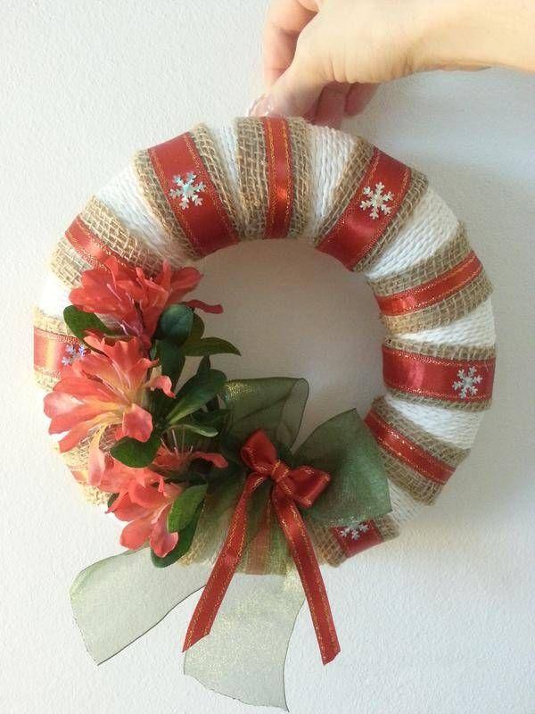 Une belle couronne de Noel , décoration murale , www.handmade,lovely,things