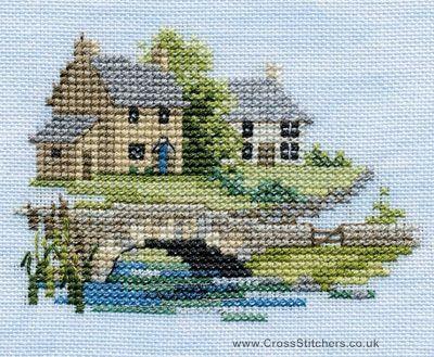 Brookside - Minuets - Cross Stitch Kit from Derwentwater Designs