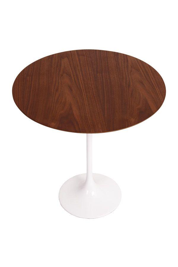 Eero Saarinen Tulip Side Coffee Table In Timber Replica Walnut Matt Blatt Eero Saarinen Side Coffee Table Eero Saarinen Tulip