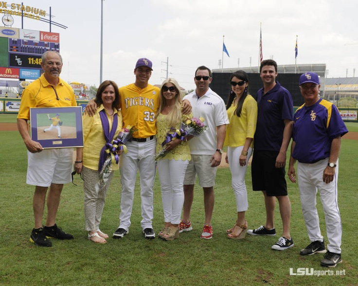 "LSU Baseball vs. Ole Miss - Game 3, Senior Day: Kevin Berry and family. Tigers will miss the ""B"" relief pitchers."