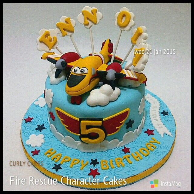 Fire rescue fondant cake