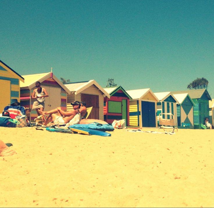 Brighton Beach Bathing Boxes - 1/2/14