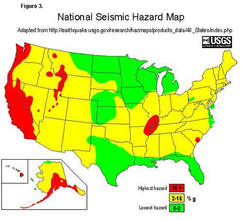 Hazard Map On Pinterest Earthquake Fault Lines California - Usgs earthquake map us