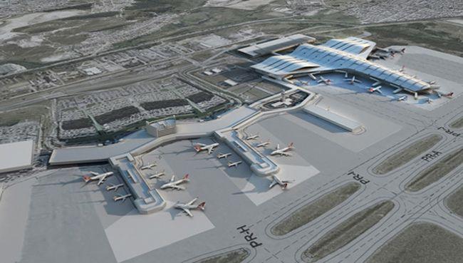 Novo Terminal do Aeroporto Guarulhoscom capacidade para receber 34 aeronaves e 12 milhões de pessoas por ano na primeira fase.