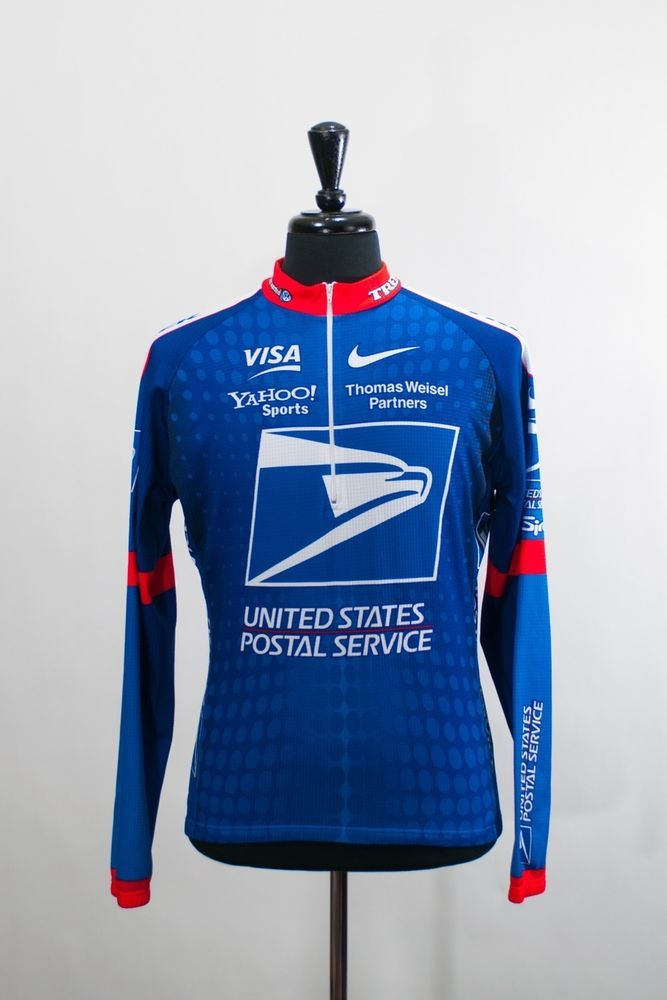 Trek United States Postal Service Nike Cycling Jersey Large 4741 #Nike