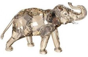 """The symbol of Mental Strength, the elephant is elegantly captured by Swarovski crystal sculptors in this annual piece. 2013 Swarovski Society Large Elephant """"Cinta"""""""