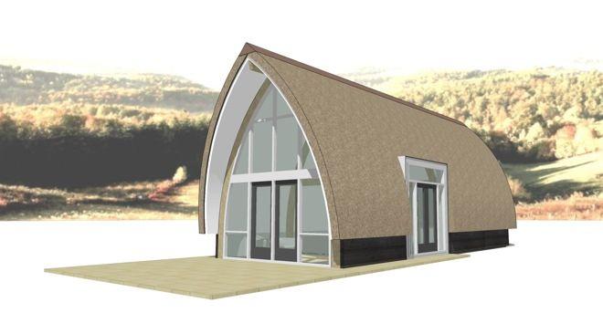 Vorm niet zo mooi, materiaalgebruik wel  Lancet Living prefab recreatiewoning  Dingemans Architectuur