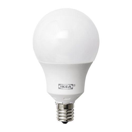LEDARE LED電球 E17 600ルーメン IKEA LEDを使用。白熱電球に比べて消費電力が約85%少なく、20倍長持ちします 調光機能付き。必要に応じて光量を調節できます 適度な明るさに調光できるので、電気代の節約にも効果的です