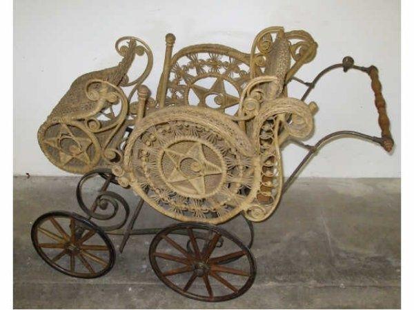 victorian baby buggy | Extra Fine Victorian Wooden Wheel Baby Buggy | Wicker Love