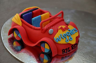 3D Edible Cake Topper - The Wiggles Big Red Car (Car Only)