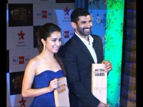 Aditya Roy Kapoor and Shraddha Kapoor Award Winner.