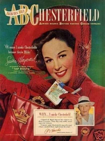 Chesterfield Cigarettes Ad Susan Hayward (1948)