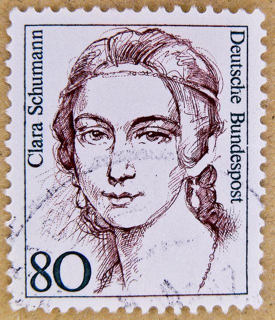 stamp Germany 80 pf Clara Schumann composer classic music postage stamps poste-timbres Allemagne sellos Alemanha selos Briefmarken Deutschland porto franco francobolli Germany postzegel by stampolina, via Flickr