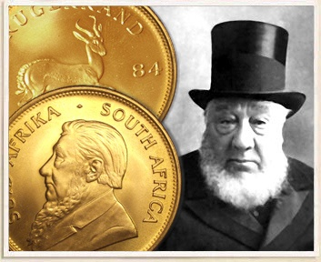 PAUL KRUGER & TWO MODERN KRUGER RANDS Treasure: The Kruger Millions Lost:1900 - Current Est. Value: $250,000,000.00 Gold coins, ingots, gold dust, silver ingots & coins. (South Africa)