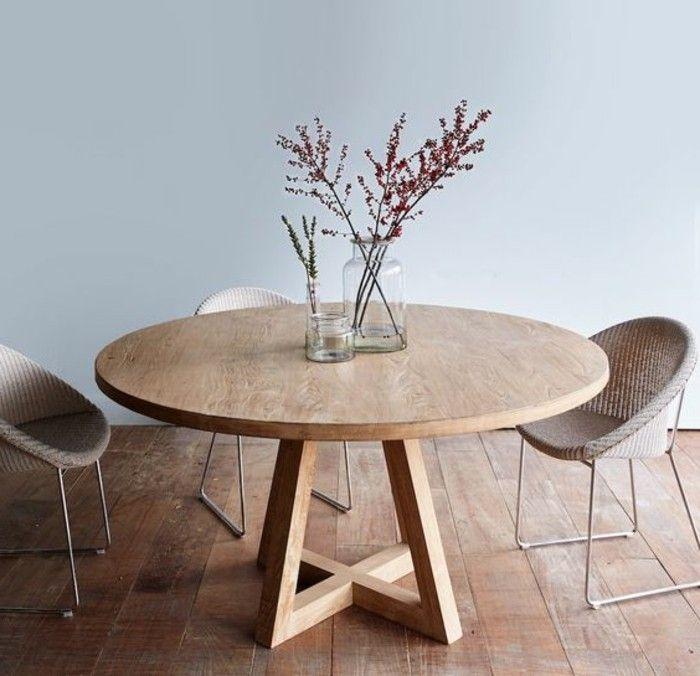 Les Meilleures Idées De La Catégorie Table Ronde Bois Sur - Table 4 personnes avec rallonge pour idees de deco de cuisine