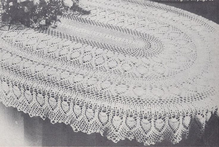 """Oval pineapple tablecloth pattern free 