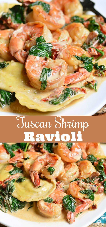 Creamy Tuscan Shrimp Ravioli. Easy and comforting …