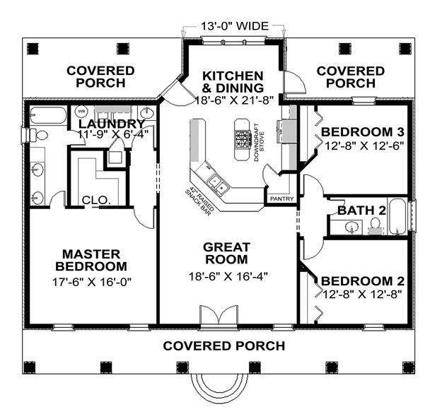 42 best house plans 1500 1800 sq ft images on pinterest for Simple house designs 3 bedrooms
