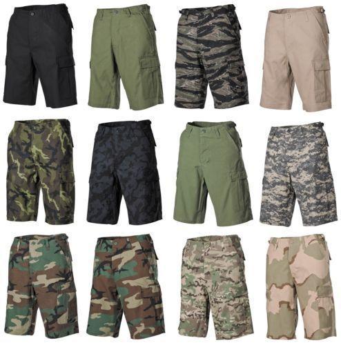 US-BERMUDA-RIP-STOP-Army-Cargo-Pantaloncini-Pantaloni-da-campo-corto-mimetico-BW