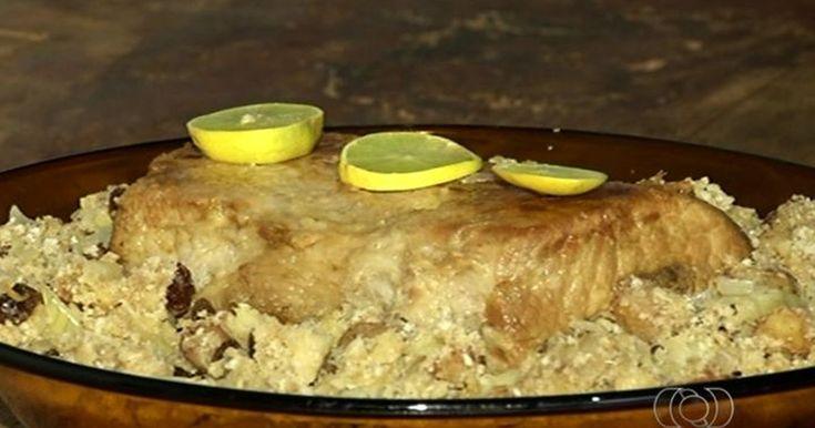 Veja como preparar a receita de 'lombo recheado com farofa de frutas'