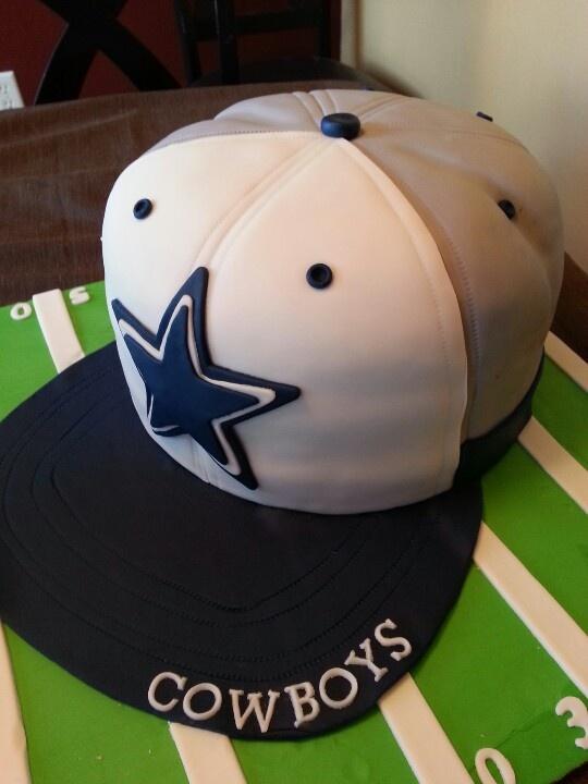 dallas cowboy cake, baseball hat cake