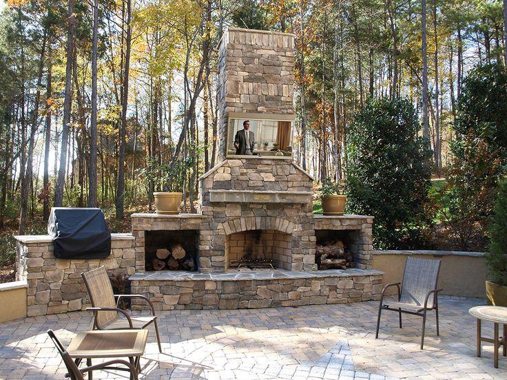 Outdoor Fireplaces | Skyvue TV |Best Outdoor TV Of 2013| LED Weatherproof TV ,