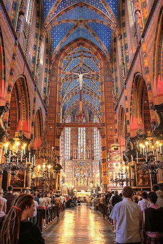 Church of St. Mary, Krakow, Poland | Flickr - Photo Sharing!