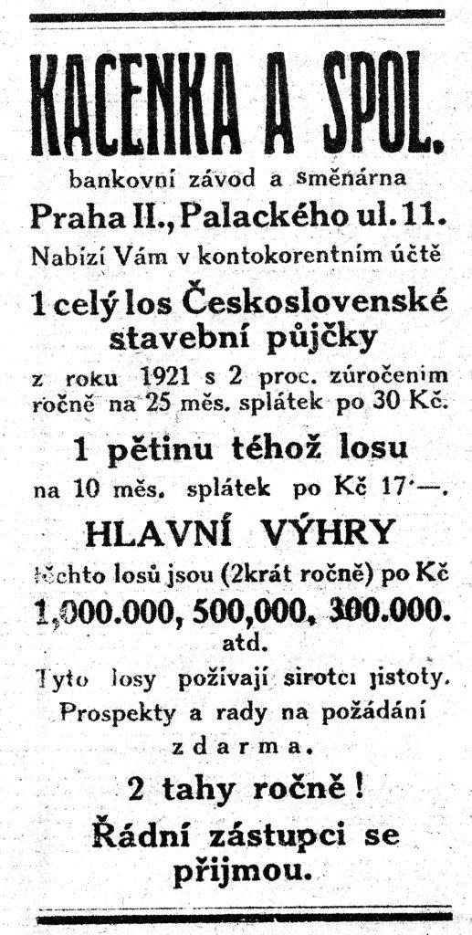 KACENKA A SPOL. bankovní závod a směnárna