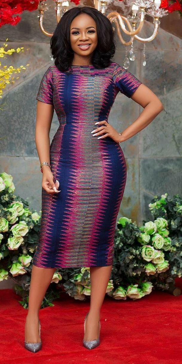 ankara dresses african styles wear ghana attire serwaa kente latest ghanaian amihere modern africa tanzania outfits clothing stylish prints always