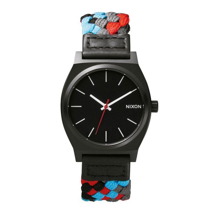 Reloj Nixon Time Teller Black/ Red Woven