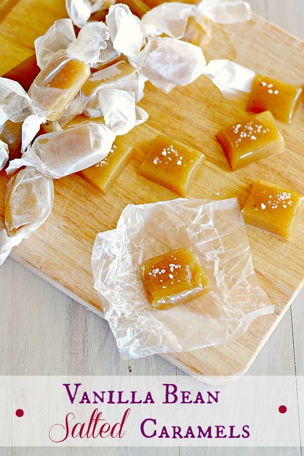 Vanilla Bean Salted Caramels - Sweet, salty, chewy and dotted with tiny vanilla bean flecks - the store bought stuff has nothing on these!