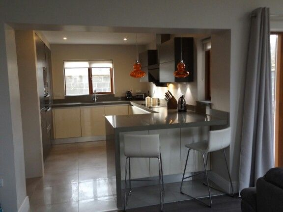 Gola Handleless White Gloss & Wenge Kitchen by Newhaven Kitchens & Bedrooms, Carlow