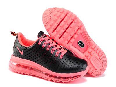 Speciale Nike Air Max 2013 Punched Hole Zwart Roze Schoenen Online te Koop, Nieuw Air Max Nike Vrouwen te Koop