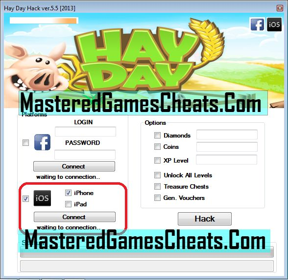 Superb Hay Day Cheats And Hacks Tool Generator Features  1) Hay Day Unlimited Coins.  2) Hay Day Unlimited Diamonds/  3) Hay Day Unlimited Vouchers  4) Hay Day Unlock All Farm Area.  5) Hay Day Unlock Cargo Boat.  6) Unlock All Resources  7) Auto Update Feature (No Need To Worry About The Latest Version)  8) Simple And Easy To Use User Interface  9) NO ROOT OR JAILBREAK REQUIRED