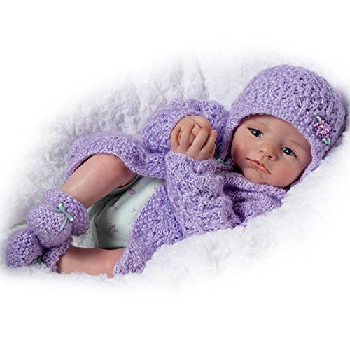So Truly Real Poseable Alyssa Claire Doll By Marissa May Wears Knitted Outfit by The Ashton-Drake Galleries