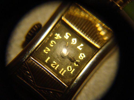 Orologio antico Oro 18k Yedra Svizzera polso di bloomingitaly