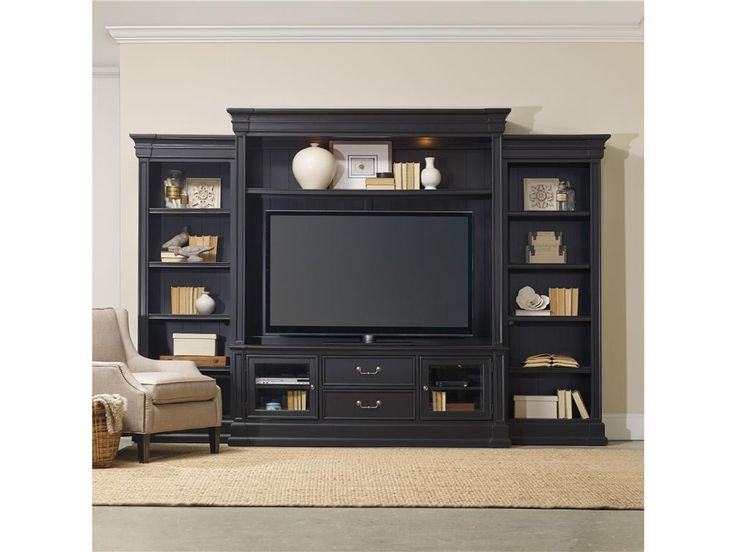 Hooker Furniture Home Entertainment Clermont Four Piece Wall Group 5371 70222 Howell FurnitureHooker FurnitureLiving Room