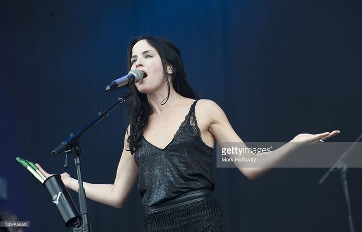 Andrea Corr of the Corrs performs on stage at Seaclose Park on June 11, 2016 in Newport, Isle of Wight.