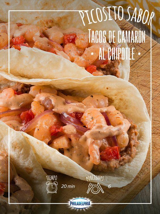 Pasa un martes saludable con esta receta exquisita: Tacos de camarón al chipotle.