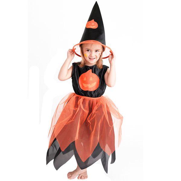 Disfraz de Bruja Halloween con sombrero talla 4