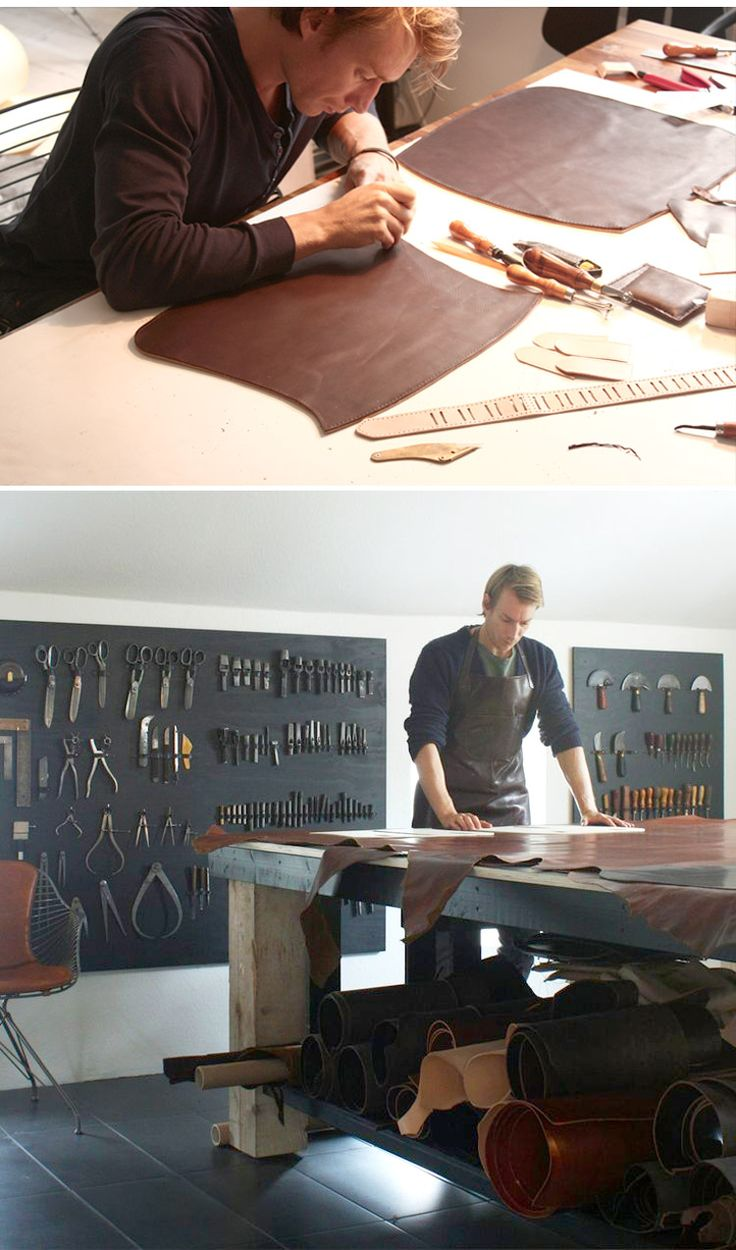 O&D WIRE – LEATHER WORKSHOP   http://oandd.dk/made-hand-leather-upholstery/