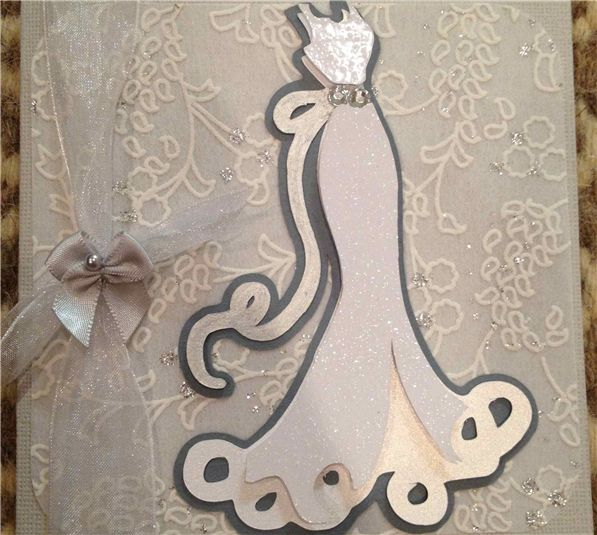 This Card Was Made Using The Wedding Cricut Cartridge And