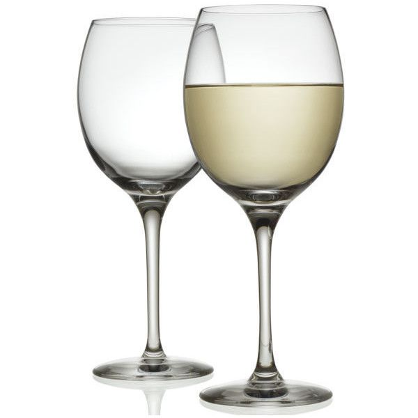 Alessi Mami XL Set of 2 White Wine Glass ($15) ❤ liked on Polyvore featuring home, kitchen & dining, drinkware and alessi