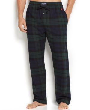 Polo Ralph Lauren Men's Plaid Flannel Pajama Pants - Blackwatch XL