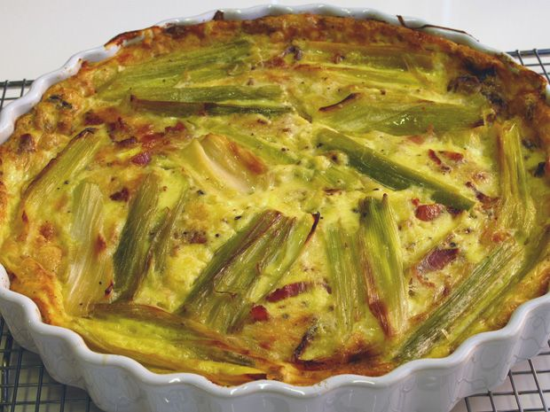 Leek, Bacon and Gruyere Crustless Quiche: Food Network, Fun Recipes, Quiches Recipes, Network Kitchens, Gruyer Crustless, Bacon, Gluten Free, Crustless Quiches, Glutenfree