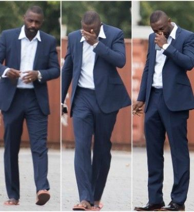 """Idris Elba doesn't deliver when it comes to his package as misleading pictures of his """"bulge"""" go viral."""