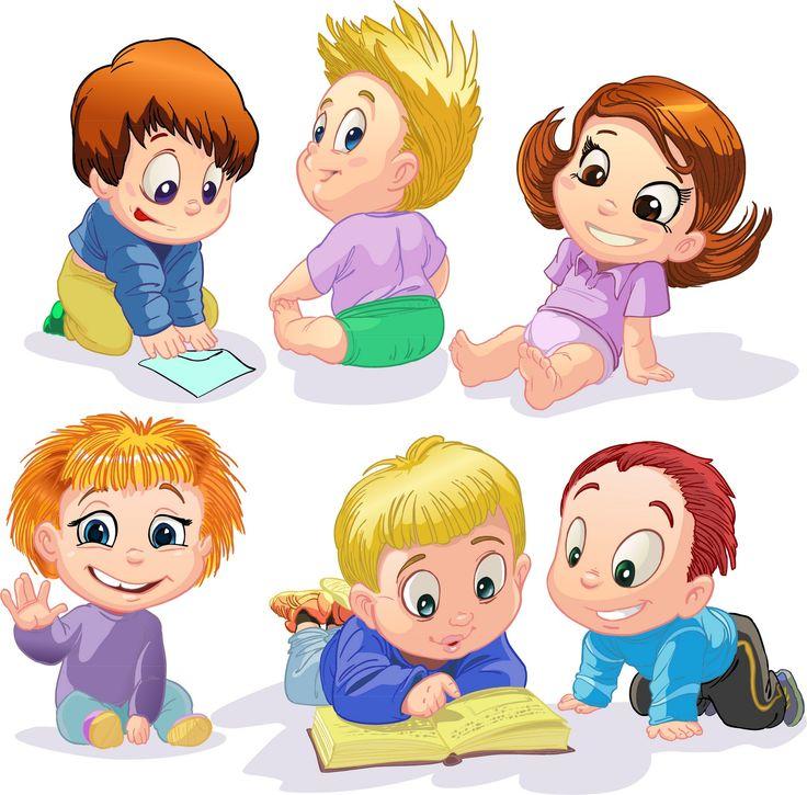 Большие картинки мультяшных детей